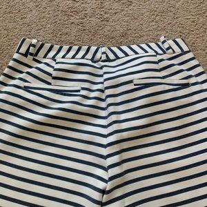 Zara Pants - Zara White And Blue Pants Size:38.